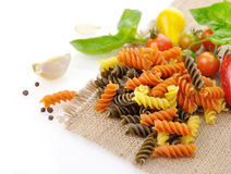 Colorful pasta Royalty Free Stock Image
