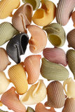 Colorful pasta background. (close-up) on white Royalty Free Stock Images
