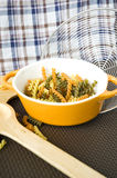 Colorful pasta in bowl Royalty Free Stock Photography