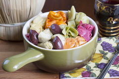 Colorful Pasta Dish Stock Images