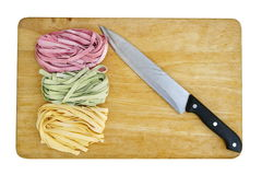 Colorful pasta fettuccine Royalty Free Stock Photography