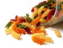 Colorful pasta jar stock photography