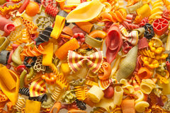 Colorful pasta mix Royalty Free Stock Image