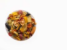 Colorful pasta mix Stock Images