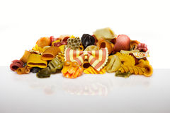 Colorful pasta mix Stock Photo