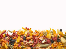 Colorful pasta mix Royalty Free Stock Photography