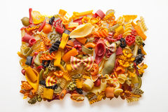 Colorful pasta mix Stock Image