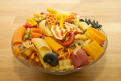 Colorful pasta mix Stock Photos