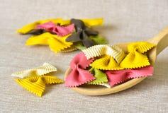 Colorful pasta still life Stock Photos