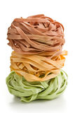 Colorful pasta tagliatelle Royalty Free Stock Photo