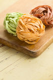 Colorful pasta tagliatelle Royalty Free Stock Photography