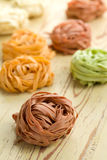 Colorful pasta tagliatelle Royalty Free Stock Image