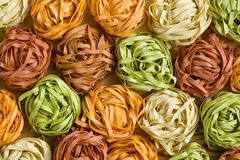 Colorful pasta tagliatelle Stock Photo
