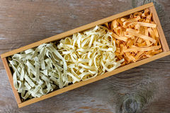 Colorful pasta tagliatelle Royalty Free Stock Photos