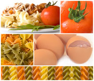 Colorful pasta, tasteful food Royalty Free Stock Photography