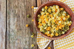 Colorful pasta Stock Images