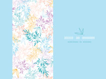Colorful pastel branches horizontal card seamless. Vector colorful pastel branches horizontal card seamless pattern background with hand drawn floral motif stock illustration