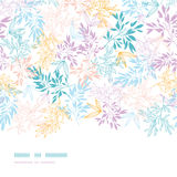 Colorful pastel branches horizontal seamless. Vector colorful pastel branches horizontal seamless pattern background with hand drawn floral motif stock illustration