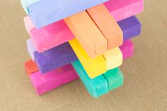 Colorful Pastel Chalk Colours Crayon Pieces Royalty Free Stock Images