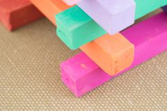 Colorful Pastel Chalk Colours Crayon Pieces Royalty Free Stock Photography