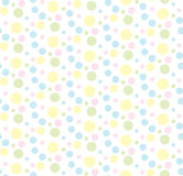 Colorful pastel circles. Vector seamless pattern Stock Photography
