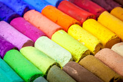 Colorful pastel crayons abstract Royalty Free Stock Photos
