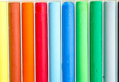 Colorful pastel, crayons Royalty Free Stock Photo