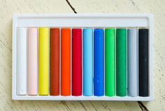 Colorful pastel, crayons Royalty Free Stock Image