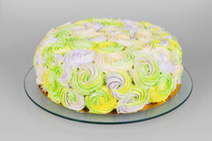 Colorful pastel cream cake Stock Photography