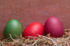 Colorful pastel easter eggs Stock Photography
