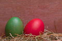 Colorful pastel easter eggs Royalty Free Stock Image