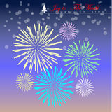 Colorful pastel firework. Royalty Free Stock Photo
