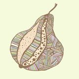 Colorful pastel hand style drawing design pear Royalty Free Stock Photo