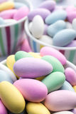 Colorful pastel jordan almond candy Royalty Free Stock Images