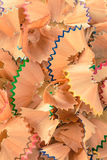 Colorful pastel pencil shavings Royalty Free Stock Photo