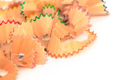 Colorful pastel pencil shavings Stock Photography