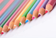 Colorful pastel pencil Stock Images