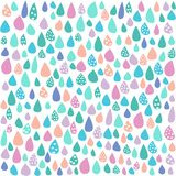 Colorful Pastel Rain White Background stock images