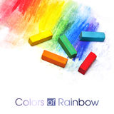Colorful pastel sticks Royalty Free Stock Photography