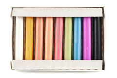 Colorful pastel sticks Stock Images