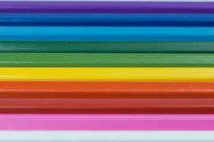 Colorful pastel sticks. The colored pencil laid parallel. Heightened colors stairs Stock Photography