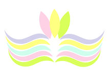 Colorful pastel symbol Royalty Free Stock Photography