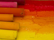 Colorful pastels Stock Images