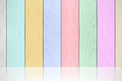 Colorful pastels wood texture horizontal background. Royalty Free Stock Images