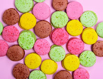 Colorful pastry macarons Royalty Free Stock Photo