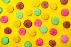 Colorful pastry macarons Stock Photos
