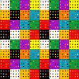 Colorful patchwork background with buttons. Colorful square patchwork background with buttons Stock Photos