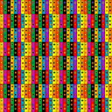 Colorful patchwork background with buttons. Seamless background Stock Photography
