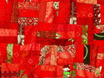Colorful patchwork blanket. Use for background Royalty Free Stock Photos