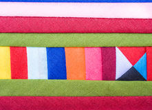 Colorful Patchwork Fabric background Stock Image